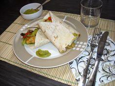 Tortilla's met kip en groentjes