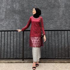 @ameliaelle Kebaya Modern Hijab, Kebaya Hijab, Kebaya Muslim, Muslim Dress, Kebaya Brokat, Kebaya Lace, Batik Kebaya, Muslim Fashion, Hijab Fashion
