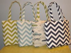 Customize Your Set of 4 Medium Chevron Tote Bags