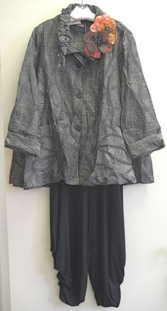 Love the fabric on this...Kati Koos ~ October 2012 Newsletter Twin needle stitching and drawstring collar