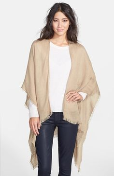 Free shipping and returns on Echo Fringe Trim Ruana at Nordstrom.com. An ultrasoft, fringe-trimmed wrap makes for a versatile addition to your casual or travel style.
