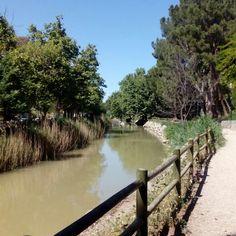 El canal imperial a su paso por el Parque Grande