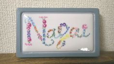 Nameplate drawn for the gift (DIY&Porcelain paint of the freehand drawing) プレゼント用に描いた表札 (DIY&手描きのポーセリンペイント)