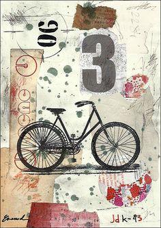 Imprimer la toile d'Art cadeau de Noël affiche Collage par rcolo