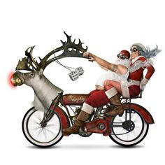 Weird Santa Motorcycle