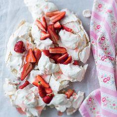 Taste Mag | Strawberry-and-cream pavlova @ http://taste.co.za/recipes/strawberry-and-cream-pavlova/