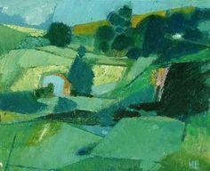 Helge Ernst (Danish, 1916-1991), Landscape study, 1976. Oil on canvas, 8.7 x 10.6 in.