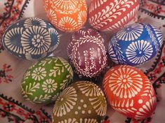 As I'm busy enjoying the holiday and wonderful traditional meals with my family, here is just a quick visual post of some photos of beautiful, hand-crafted Easter eggs (pysanky) that I took a… Easter Arts And Crafts, Easter Crafts For Kids, Bunny Crafts, Easter Ideas, Polish Easter Traditions, Easter Egg Pattern, Ukrainian Easter Eggs, Coloring Easter Eggs, Madeira