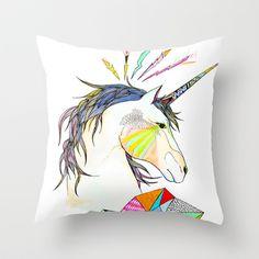 Unicorn Throw Pillow by Belén Segarra - $20.00