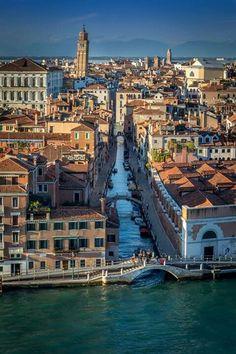 Venice from outside the Grande Canal. #venividi