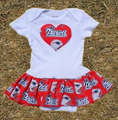 Onesie  New England Patriots Heart by CrazyCraftsToo on Etsy, $18.00