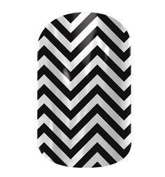 Black and White Chevron  nail wraps by Jamberry Nails