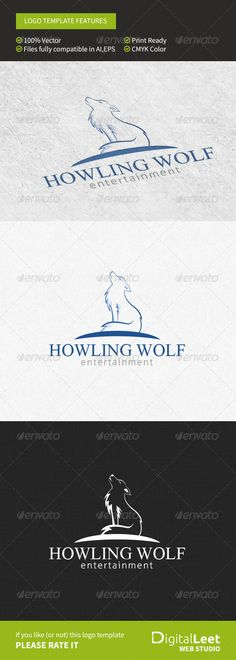 EPS Howling Wolf Entertainment Logo Template • Only available here ➝ http://graphicriver.net/item/howling-wolf-entertainment-logo-template/8757970?ref=pxcr