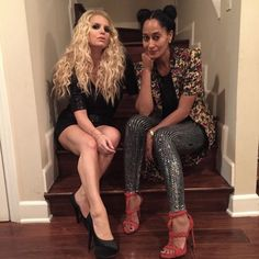 When Tracee and Jessica Simpson proved they were the hottest sister-in-laws in town. | 43 Times Tracee Ellis Ross Was So Flawless We Couldn't Deal