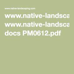 www.native-landscaping.com docs PM0612.pdf