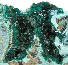 Emerald Green Druzy Dioptase Crystal Cluster by FenderMinerals,