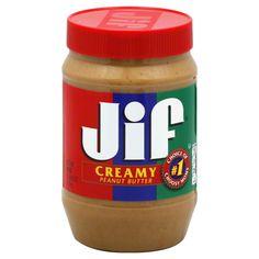 Jif Peanut Butter, Creamy. My Favorite!