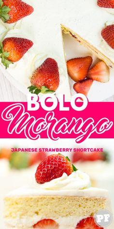 Bolo de Morango e Chantilly (Japanese Strawberry Shortcake) por PratoFundo.com