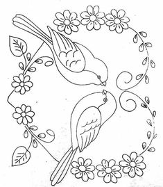 Hand Embroidery Patterns Free, Hand Embroidery Designs, Embroidery Stitches, Flower Sketch Pencil, Quilling Patterns, Animal Coloring Pages, Fabric Painting, Bunt, Drawings