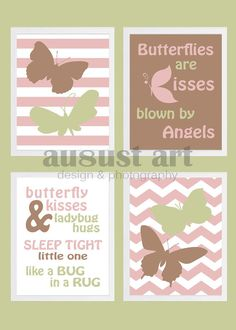 Butterfly Nursery Room Decor - Wall Art - Pink, Butterflies - Printable - Custom Order on Etsy, $20.00