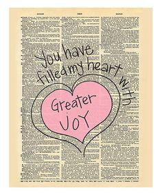 'Greater Joy' Dictionary Print #zulily #zulilyfinds
