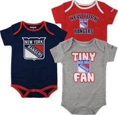 New York Rangers Newborn 3pc Foldover Neck Creeper Set  29.99 http   www. dd09320bd