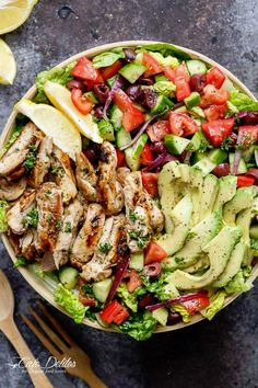 Mediterranean Chicken Salad Recipes is Among the Favorite Salad Recipes Of Many Persons Round the World. Besides Easy to Make and Good Taste, This Mediterranean Chicken Salad Recipes Also Healthy Indeed. Mediterranean Chicken Salad Recipe, Mediterranean Diet Recipes, Grilled Chicken Salad, Chicken Salad Recipes, Shrimp Salad, Salad With Chicken, Keto Meal Plan, Diet Meal Plans, Meal Prep