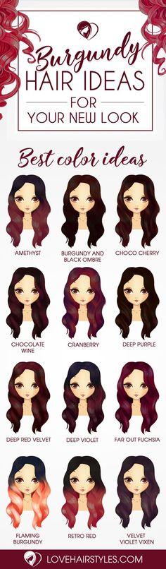 Włosy przewodnik - burgund