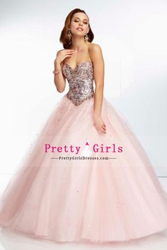 2014 New Arrival Prom Dresses Sweetheart Floor Length Ball Gown Tulle Lace Up With Beading And Sequins USD 229.99 PGDPJLX71BH - PrettyGirlsDresses.com