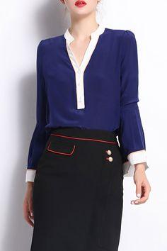 FANTIOW -  Silk Bell Sleeve Top