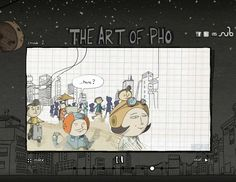 Using After Effects to animate an indie graphic novel. Lois van Baarle details how she brought Julian Hanshaw's graphic novel The Art of Pho to life online.