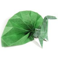 How to make an origami peacock with spreading feathers (http://www.origami-make.org/origami-peacock-spreading-feathers.php)