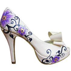 Purple wedding shoes- wedding heels