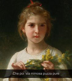 "William Adolphe Bouguereau . "" Mimosa """