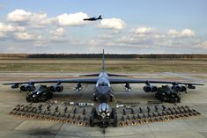 "B-52H Stratofortress - ""Arclight, is the code name and general term for the use of B-52 Stratofortress as a close air support (CAS) platform to support ground tactical operations assisted by ground-control-radar detachments of the 1st Combat Evaluation Group (1CEVG) in Operation Combat SkySpot during the Vietnam War."" wikipedia"