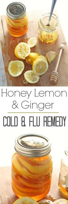 Determined to keep the bugs at bay I made this homemade cold & flu remedy. It's so so easy to make and keeps in the fridge for months. Each morning I simply add a couple of teaspoons to some warm water. It also makes a lovely soothing drink if you are su Natural Home Remedies, Herbal Remedies, Health Remedies, Natural Healing, Natural Medicine, Herbal Medicine, Fussy Eaters, Easy Meals For Kids, Ginger Jars