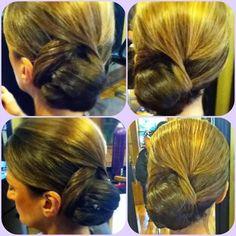 Elegant low side bun updo- hair by Brittany Chich
