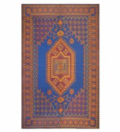 Mad Mats Oriental Turkish Indoor/Outdoor Floor Mat, 6 by 9-Feet, Blue by Mad Mats. $99.99. Strong enough to be outside all year without care. Beautiful and sophisticated enough to go inside anywhere.. Mad Mats are made of 100% recycled Polypropylene an with Polyester/Nylon ribbon.. Mad Mats are made of 100% recycled Polypropylene and with Polyester/Nylon Ribbon.. All Mad Mats are packaged with handy velcro stays to keep corners down in windy locations.. Strong enough to be ou...