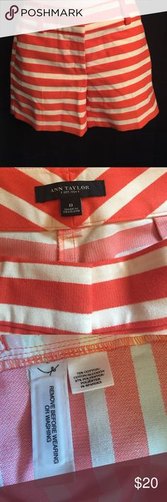 Ann Taylor Sz 0 Shorts New without Tags Ann Taylor Sz 0 Striped Shorts new without tags Ann Taylor Shorts