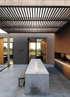 How amazing is this relax area? Indoor Outdoor, Outdoor Rooms, Outdoor Dining, Outdoor Gardens, Dining Tables, Outdoor Kitchens, Dining Room, Outdoor Cooking, Outdoor Seating