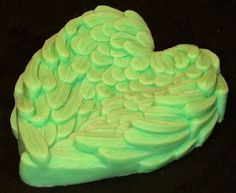 Chase Creative molds : Victorian style Angel wing Heart shape Silicone soap mold