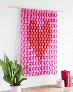 Remember when we used our cardstock in Valentine Pink and Scarlet Red, to make this paper chain tapestry for Valentines Day? Paper Chains, Valentine's Day Diy, Cocktail Tables, Valentines Diy, Card Stock, Decorative Boxes, Diy Projects, Tapestry, Curtains