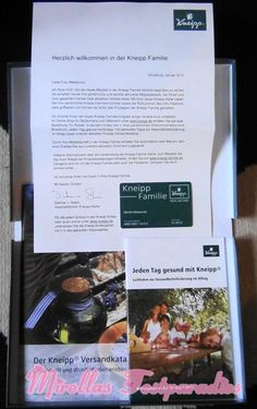 My free welcome package from Kneipp, because I`m know Kneipp family member.