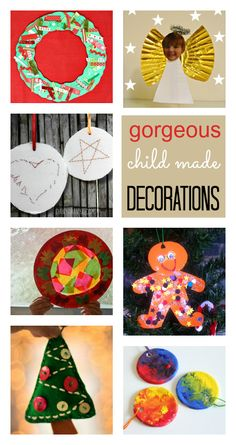 easy homemade Christmas decorations kids can make, simple Christmas decoration crafts for toddlers and preschool