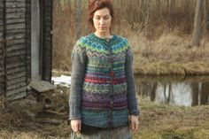 Handmade Icelandic wool cardigan with buttons by TASSSHA on Etsy