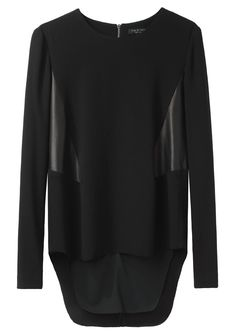 Rag & Bone / Iris Top with geometric leather panels
