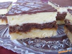 Balkánske rezy Czech Recipes, Ethnic Recipes, Cake Bars, Nutella, Baked Goods, Tiramisu, Sweet Tooth, Cheesecake, Cooking Recipes
