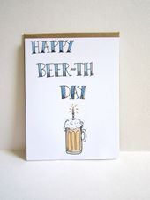 The pictured account - Happy Beer-th Day Card .- Das abgebildete Konto – Happy Beer-th Day Card … – # … – The pictured account – Happy Beer-th Day Card … – # … – - Birthday Card Drawing, Free Birthday Card, Happy Birthday For Him, 21st Birthday Cards, Funny Birthday Gifts, Diy Birthday, Birthday Ideas, Birthday Parties, Birthday Gifts For Bestfriends