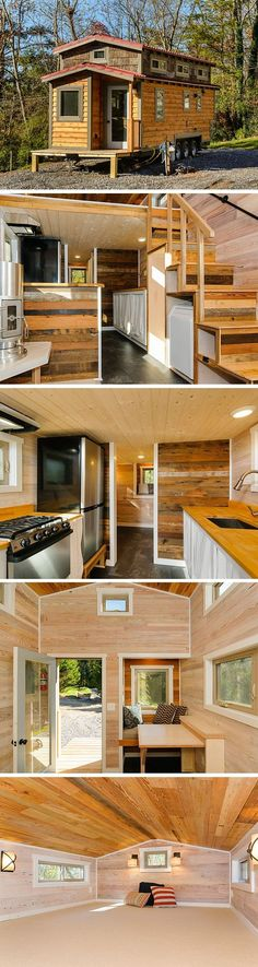 The MH tiny house from Wishbone Tiny Homes. A 240 sq ft home on wheels.