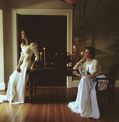 indoor bride/bridal party portrait